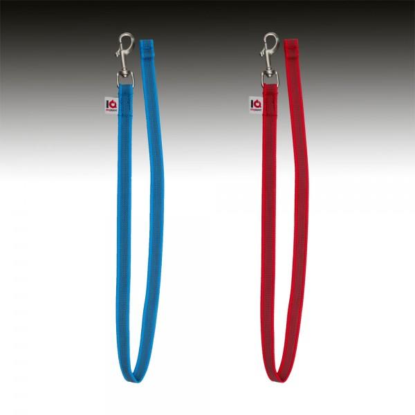 Gummierte Leine - Frabe blau und rot