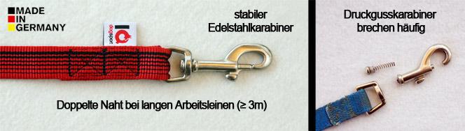 Edelstahl-vs-Druckgusskarabiner