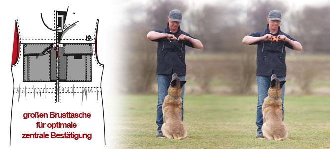 Zentrale-Brusttasche-Hundesportweste
