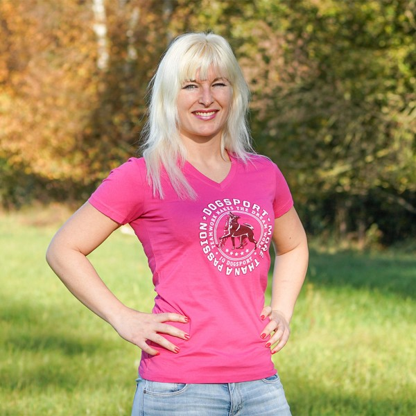 "Damen-T-Shirt ""Dogsport  More Than A Passion"" - Pink"